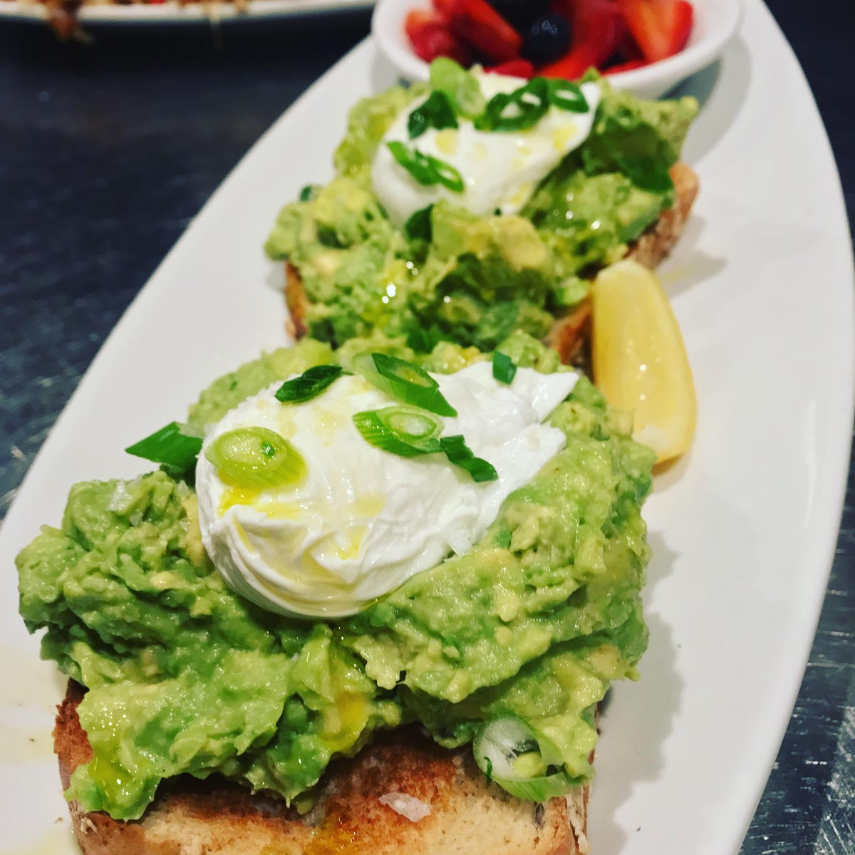 avocado toast dish